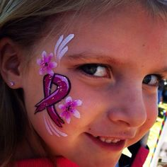 So many breast cancer fundraisers in October! Ribbon designs galore! #rifacepainting #cancersucks