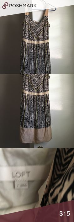 Size 2 Loft Dress Size 2 loft dress, EUC, wrinkled from being in back of closet LOFT Dresses Midi