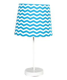 Another great find on #zulily! Blue Chevron Table Lamp #zulilyfinds