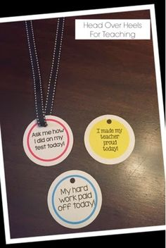 Spark Student Motivation: Student Medals-an easy way to let your students brag about their accomplishments!
