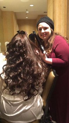 #CaughtInTheAct 😜 #WeddingHairbySorahYaffa hard at work making #hairdreamscometrue for a bride! ❤️ Book an appointment right now!! #CurlsForTheGirls