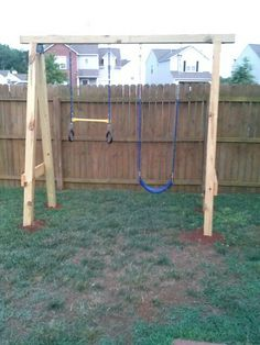Created a swing set for my three year old.
