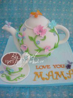 tea pot cakes | bikin teapot cake pake cake dicarving sendiri cake bisa kukus or oven