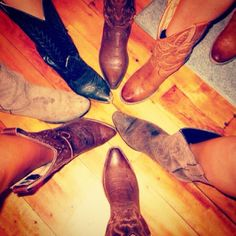 Southern girls with their cowgirl boots