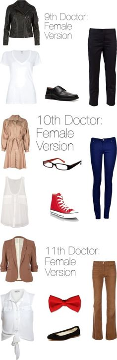 """Doctors 9-11: Female Editions"" by ketchupoutabottle on Polyvore so adorable"