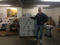 Rob with 3 Ravens beer cases