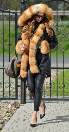 american parka with fur - new american army parka & golden fox fur coat