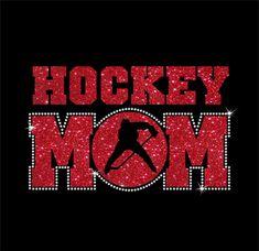 673b5b7b Women's Glitter and Rhinestone Hockey Mom Shirt Women's Hockey, Hockey  Shirts, Hockey Apparel,