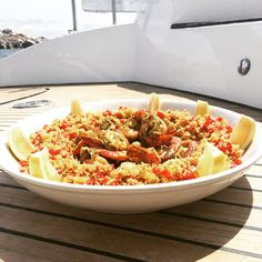 Cous Cous & Prawns in Corsica