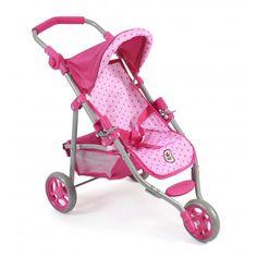 Wózek dla lalek spacerówka. Zgrabny trójkołowy wózeczek.