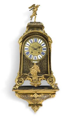 A Louis XIV ormolu mounted Boulle marquetry clock and bracket signed Margueritte a Paris, circa 1700