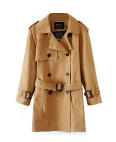 Relaxed Style Pure Color Wind Coat