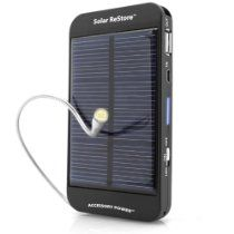 Charge it up by the power of the Sun, USB or an AC outlet to provide a full-charge to most mobile devices.