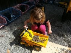 The gravel pit keeps them busy!