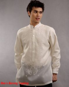 my babe's dream barong Barong Tagalog Wedding, Barong Wedding, Wedding Men, Wedding Ideas, Wedding Details, Tropical Fashion, Groom Attire, Traditional Dresses, Formal Wear