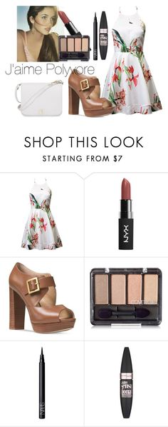 """""""SicklyLove"""" by meliiissav ❤ liked on Polyvore featuring Michael Kors, NARS Cosmetics, Maybelline and Furla"""