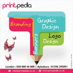 Printpedia specialises in customised design, branding and printing services in Aylesbury, Buckinghamshire and the rest of the UK. Branding Design, Logo Design, Graphic Design, Compliment Slip, Branding Services, Watford, Leeds, Chester, Brighton