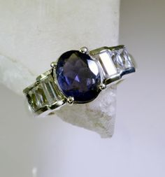 #Iolite Gems Stones 925 Silver Mourning #Ring #Jewellery Sz 7 SRIOL7 3806 | eBay