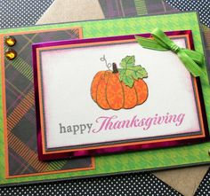 Thanksgiving  Card with Matching Embellished by SewColorfulDesigns, $4.50
