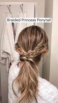 Work Hairstyles, Easy Hairstyles For Long Hair, Braided Hairstyles, Easy Updos For Long Hair, Hairstyle Hacks, Short Hairstyles Fine, Beach Hairstyles, Braided Ponytail, Hairstyles For Nurses