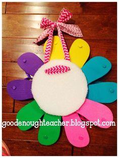 Good Enough Teacher: DIY Flip-flop Wreath Tutorial