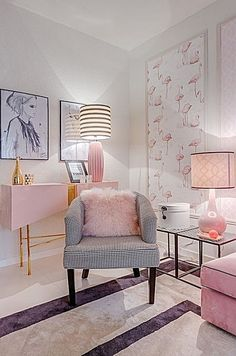 The Chic Technique Pink And Black Living Room