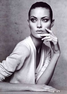 """I was scouted at a Cure concert. A model scout approached me there and asked me if I modeled, and I thought that was ludicrous."" - SHALOM HARLOW -"