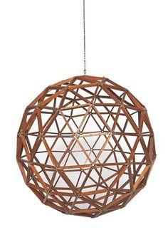 Mid Century Modern Hand Made Wood Geometric Sphere Sculpture