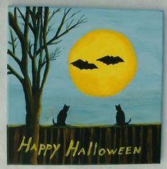 Halloween art,Happy Halloween art, Spooky art, Halloween decor, Halloween fun art, Ready to Ship