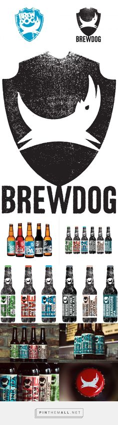 New Logo and Packaging for BrewDog via UnderConsideration curated by Packaging Diva PD. How cute is this IPA beer packaging : )