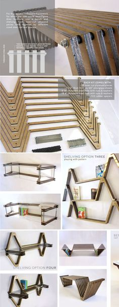 Furniture Design, Rhode Island School of Design, RISD Industrial Design, Bench, Shelving