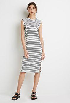 Striped Midi Dress   Forever 21 - 2000133173 $17.90