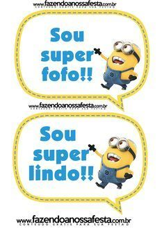 Plaquinhas Divertidas dos Minions: Mais Minion Birthday, Birthday Parties, Party, Biscuit, Wallpapers, Ideas Party, Hilarious, Events, Dancing Girls
