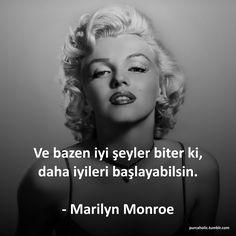 Ve bazen iyi şeyler biter ki, daha iyileri başlayabilsin.  - Marilyn Monroe  #sözler #anlamlısözler #güzelsözler #özlüsözler #alıntı #alıntılar #alıntıdır #alıntısözler #marilynmonroe #marilyn #monroe #biter #başlar