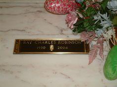 Ray Charles Gravesite  RAY CHARLES  September 23, 1930 to June 10, 2004  COD:  Liver disease  BURIAL:  Inglewood Park Cemetery, Inglewood, California