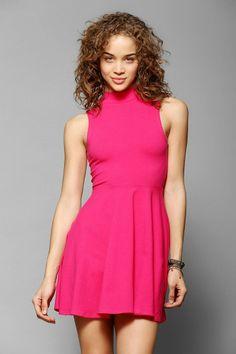 Kimchi Blue Stella Mock-Neck Fit & Flare Dress #urbanoutfitters