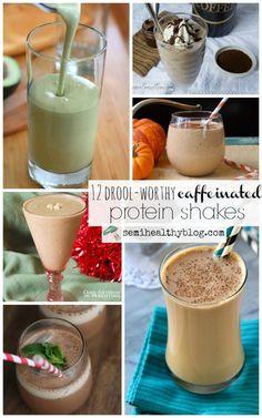 12 drool-worthy caffeinated protein shakes via @semihealthnut at semihealthyblog.com