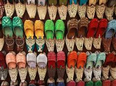 Look at all the different types of shoes.