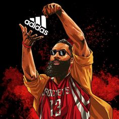 James Harden Cookin' Up adidas Illustration (Basketball Ilustration) Rockets Basketball, Basketball Tricks, Basketball Art, Basketball Legends, Basketball Pictures, Basketball Uniforms, College Basketball, Basketball Players, Basketball