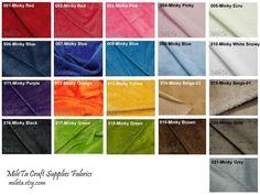 Minky fabric ultra soft cuddly velboa microfiber fabric by MileTa