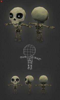 미니 해골 톰 마이크로 톰 진화했다! 그는 몇 가지 작은 다리와 팔과 약간의 몸을 성장! 그는 아직도 비록 다소 딱딱하고 그가 자신의 뼈를 스트레칭하고 묘지 주위에 약간의 무릎을 수행 할 수 있습니다 전에 리깅 할 필요가있다. 이 모델은 내가 뼈 가족의 나머지를 구축하는 데 사용하는 기본 모델이 될 것입니다.