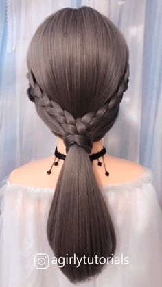 10 Beautiful Unique Hairstyle for Long Hair Part 4 – Tutoriels Cheveux Cute Hairstyles For Medium Hair, Unique Hairstyles, Medium Hair Styles, Braided Hairstyles, Short Hair Styles, Diy Beauté, Hair Upstyles, Long Hair Video, Hair Videos