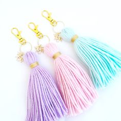 Unicorn Dreams Tassel Keychain *Choose Your Color*