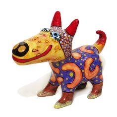 Clay dog, Ceramic dog, little dog, Dog figurines, puppy ceramic, clay figurines, ceramic art, painted pottery, dog lover gift, statuette dog by CeramicsGerasimenko on Etsy