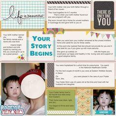 Making an Adoption Life Book - Beginning Their Story #adoption #scrapbooking