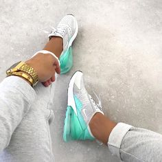 """Nike Air Max 270 - Gray / Mint - buy here - Nike Air Max 270 """"Mint"""" – super nice colorway on the top model of Nike! The Air Max 270 is curren - Cute Nike Shoes, Cute Sneakers, Nike Air Shoes, Best Sneakers, Sneakers Fashion, Fashion Shoes, Shoes Sneakers, Nike Footwear, Shoes Sandals"""
