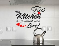 This kitchen is seasoned with love Vinyl by OldBarnRescueCompany