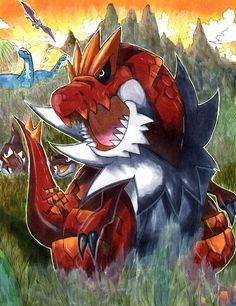Jurassic Pokemon Print