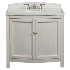 allen + roth Moravia Antique White Undermount Bathroom Vanity with Engineered Stone Top 36-in x 20-in | Lowe's Canada