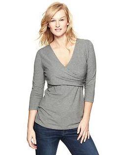 Three-quarter sleeve nursing top | great for pregnancy and nursing $29.95